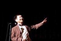 高知時代からの親友・泉清博さんはPowerPointを使ったスピーチ