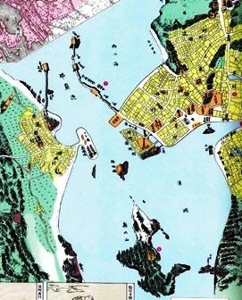 那覇の古地図(『沖縄歴史地図』所収)