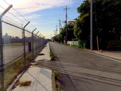 【写真3】廃線となった軍用引き込み線の跡