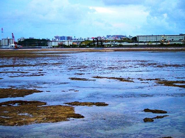 那覇軍港の移設に伴い埋め立てられる浦添市西洲(いりじま)の沿岸部