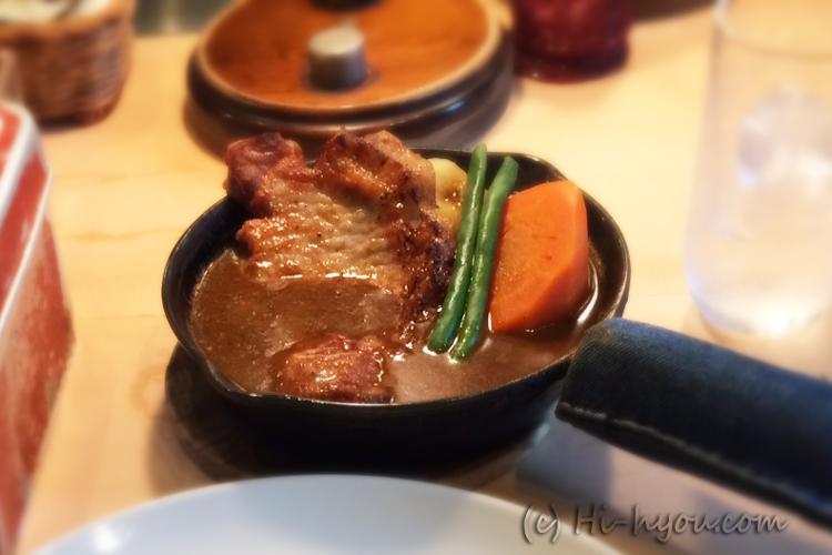 横浜豚のカレー。やまゆりポーク。