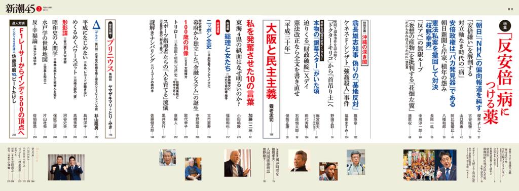 新潮45 2018年2月号(誌面)